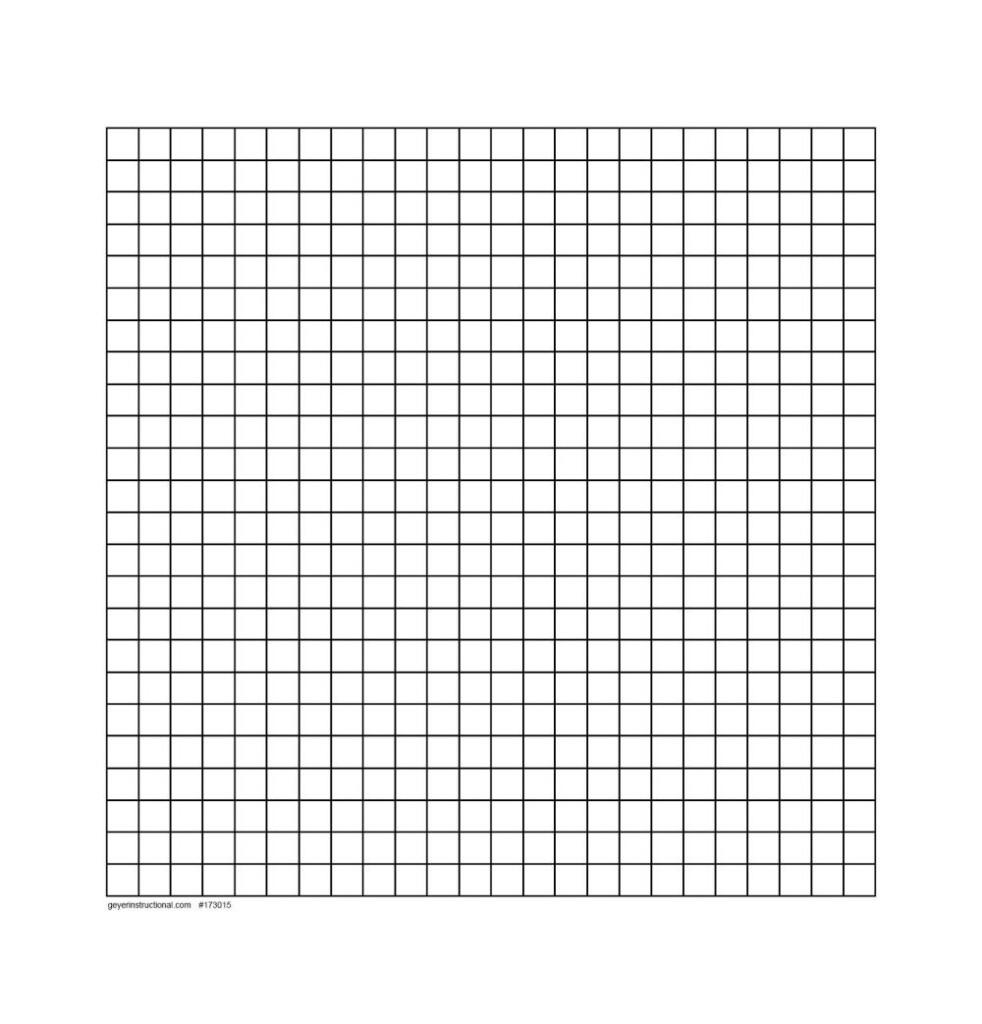 """Dry Erase Graph Magnet   24 X 24 Grid   .75"""" Squres"""