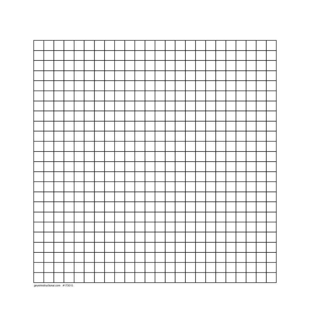 """Dry Erase Graph Magnet - 24 X 24 Grid - .75"""" Squres"""