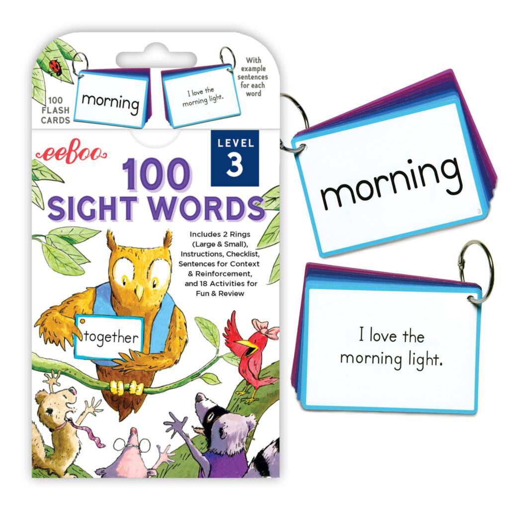 Eeboo 100 Sight Words Level 3