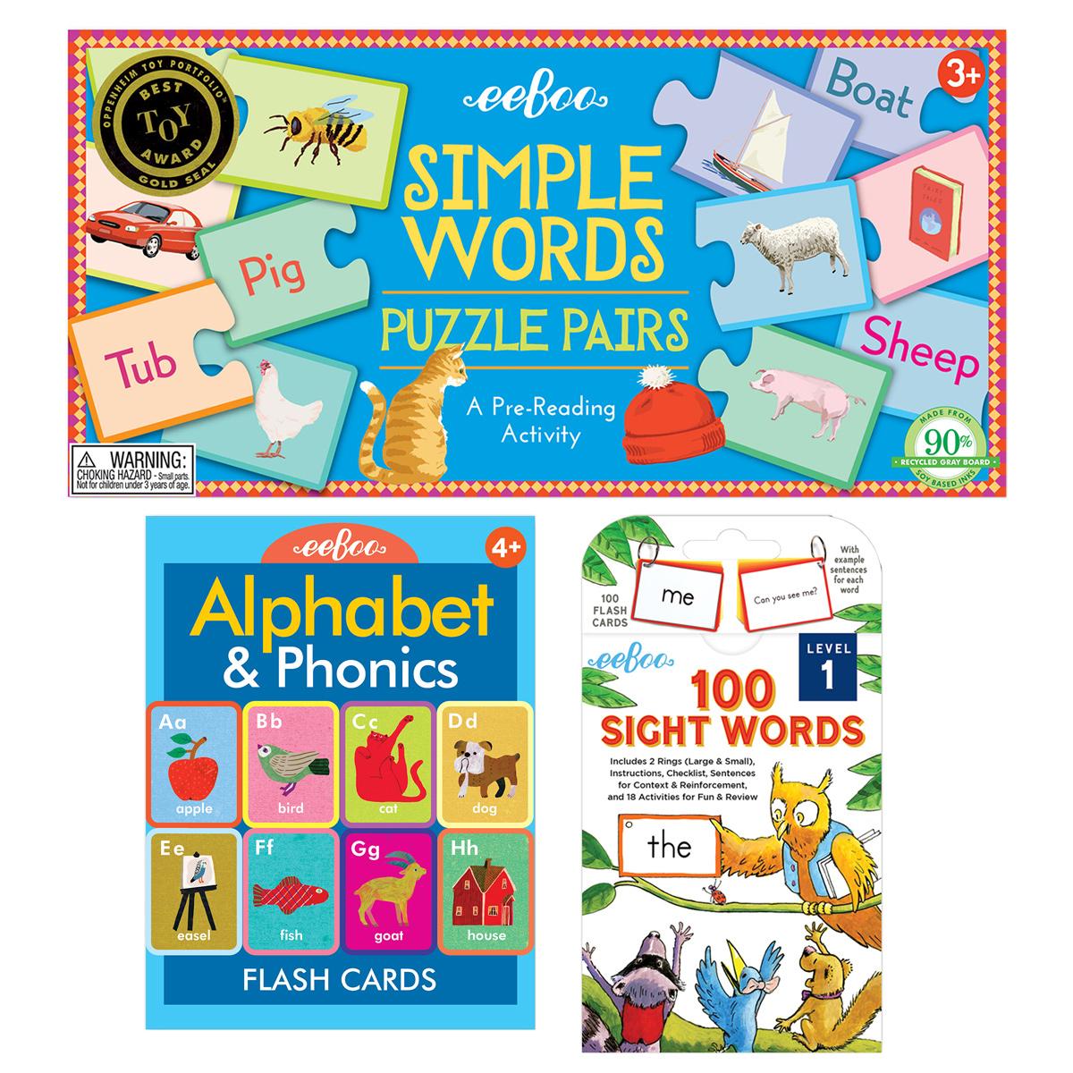 Eeboo Learn To Read Educational Set