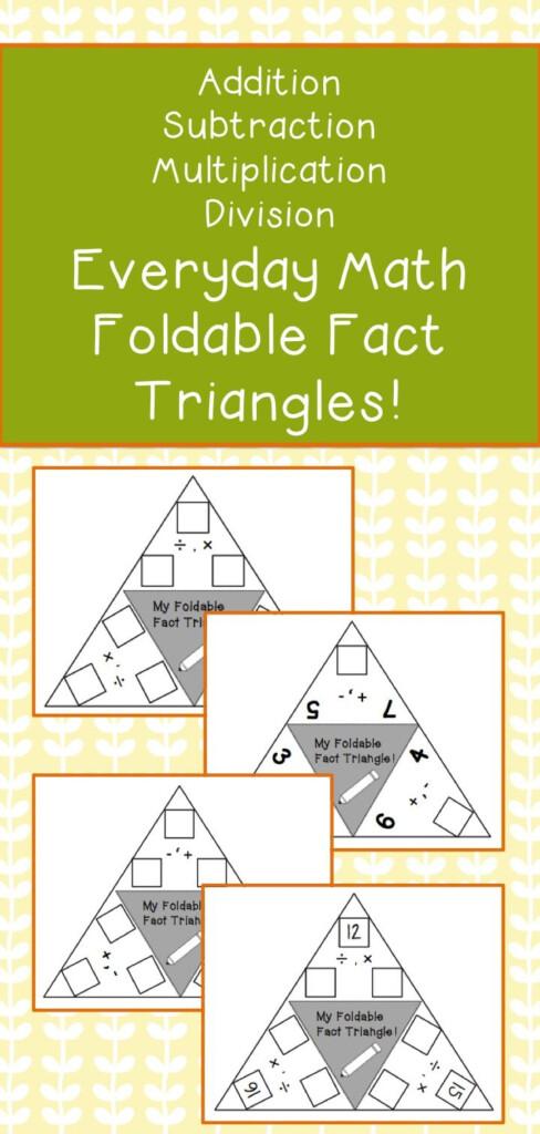 Fact Triangles   Teacherspayteachers | Everyday Math