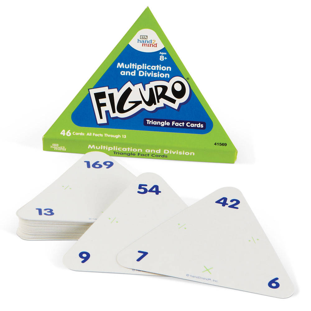Figuro Fact Family Triangle Cards, Multiplicationdivision