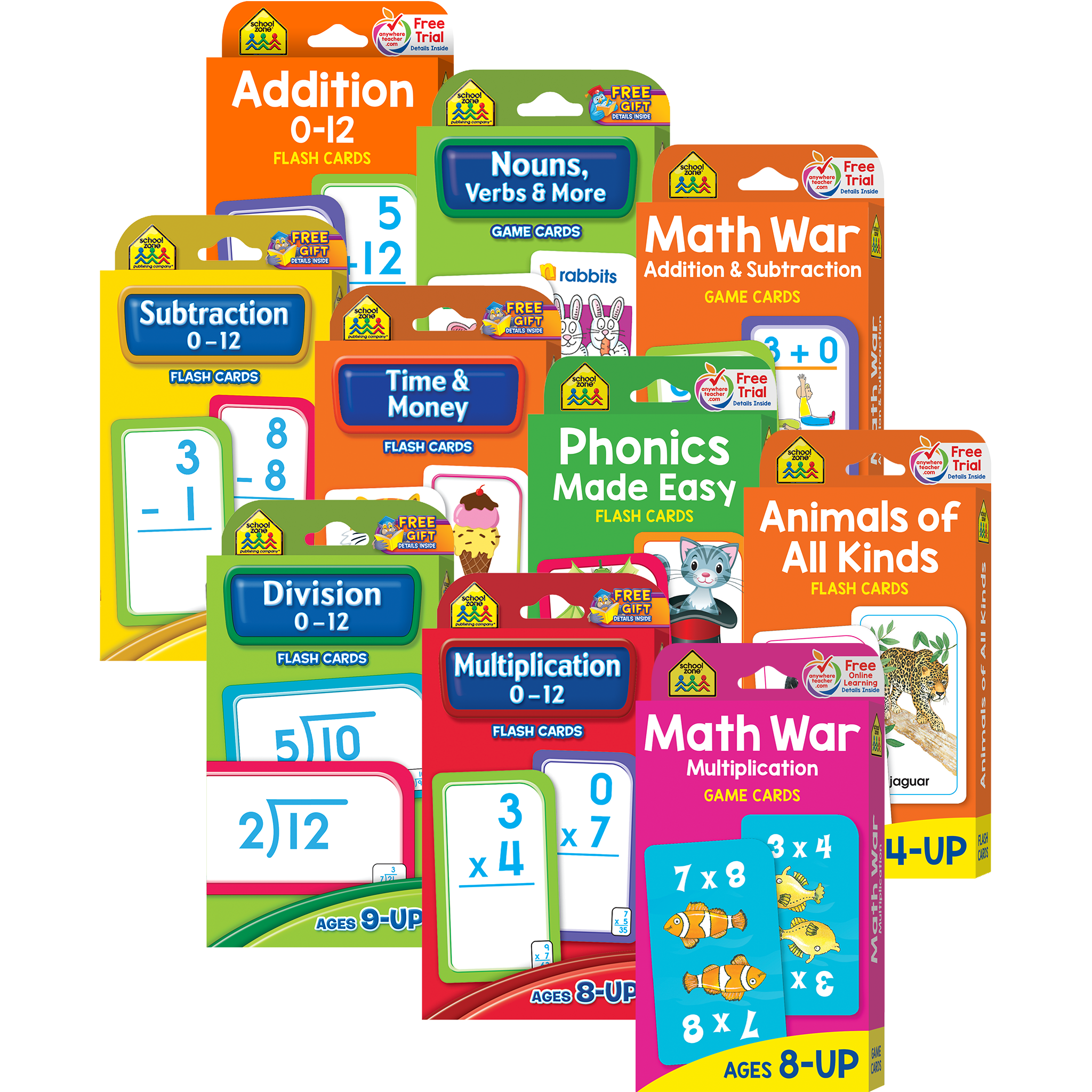 Flash Card & Game Card Collection Ages 6-Up