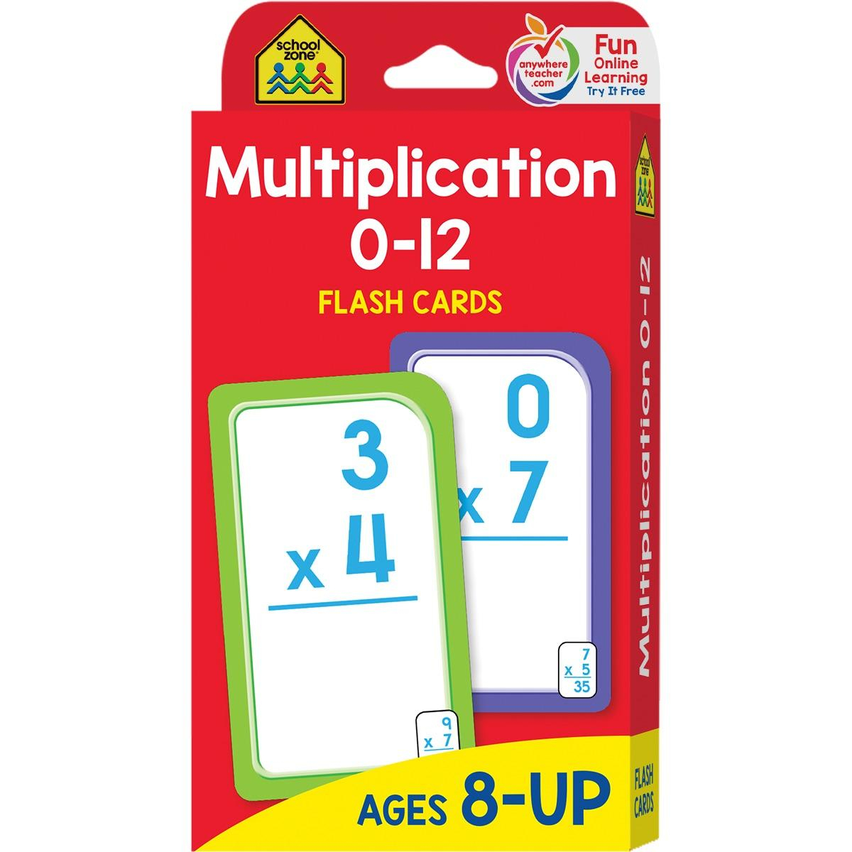 Flash Card: Multiplication 0 -12: Flashcards (Other) - Walmart