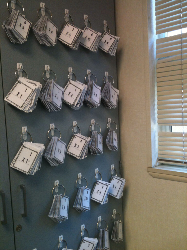 Flash Card Organization And Storage. I Used 3M Hooks And
