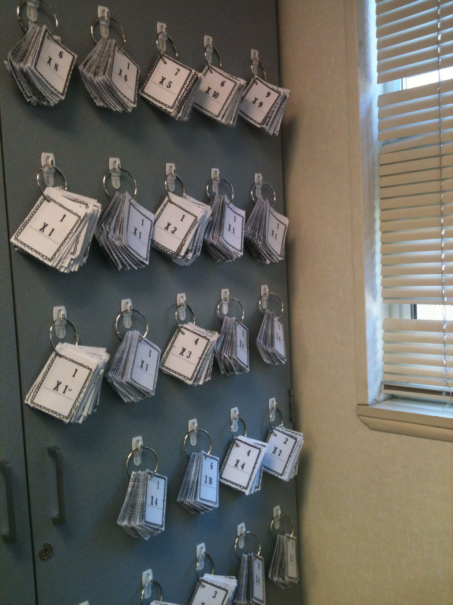 Flash Card Organization And Storage. I Used 3M Hooks And