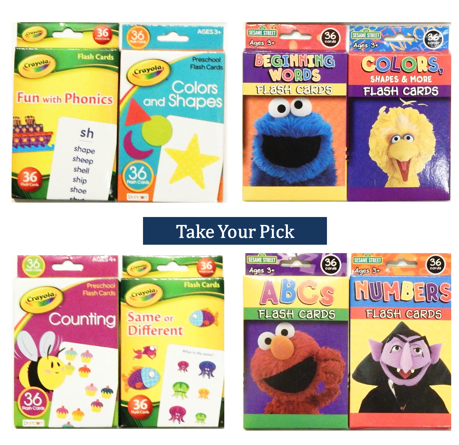 Flash Cards For Kids Toddlers Alphabet Abc Numbers Colors Counting First  Words