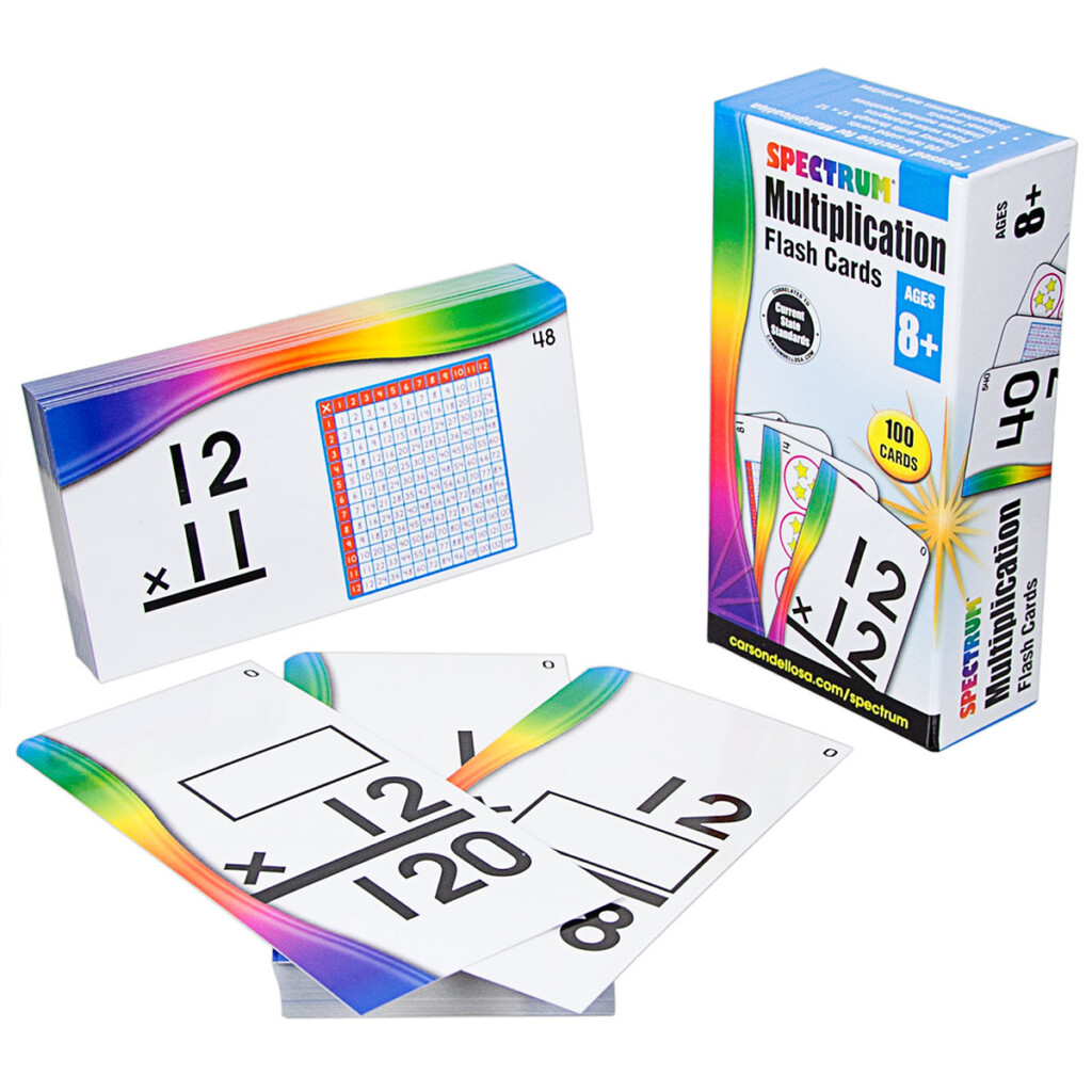 Flash Cards Packs   Multiplication   Carson Dellosa