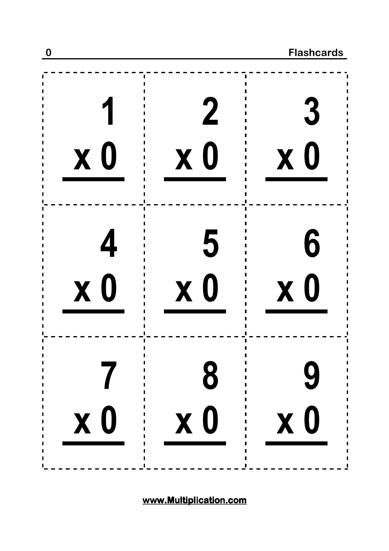 Flashcards - 0 - Multiplication