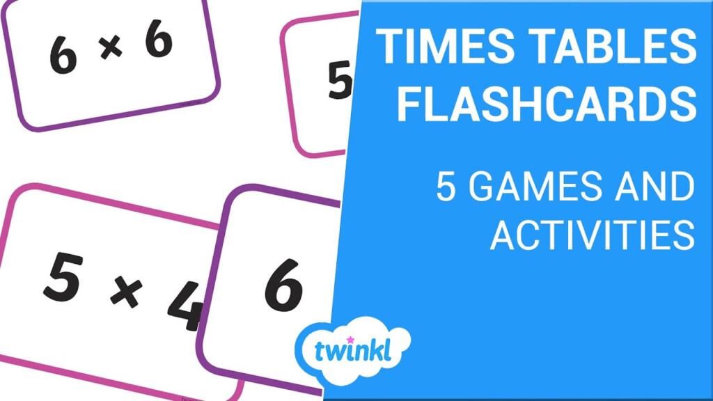 Four Times Table Flashcards (Teacher Made)