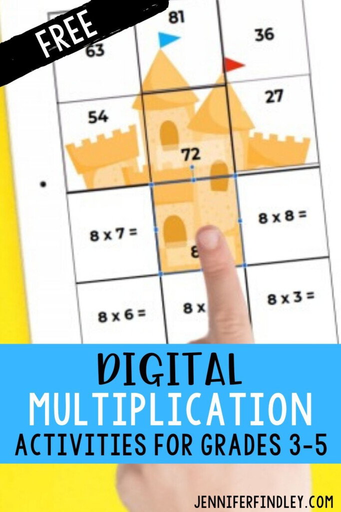 Free Digital Math Activities For Multiplication In 2020