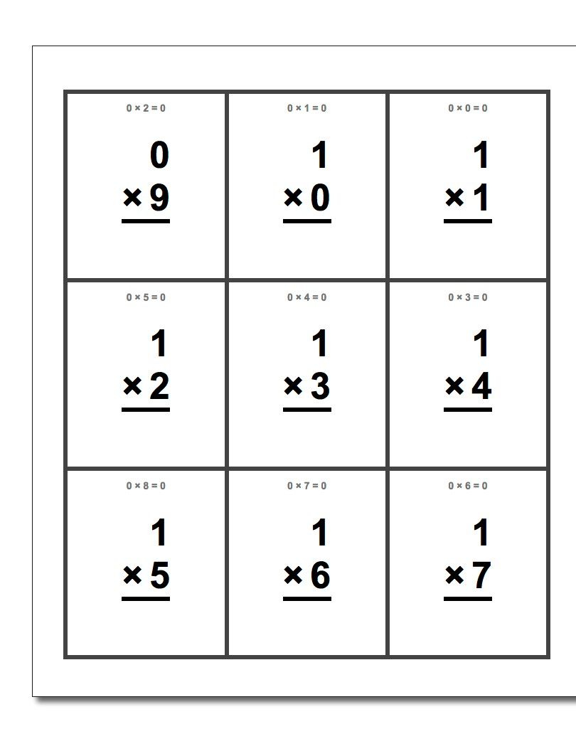 Free Printable Flash Cards For Each Math Operation With