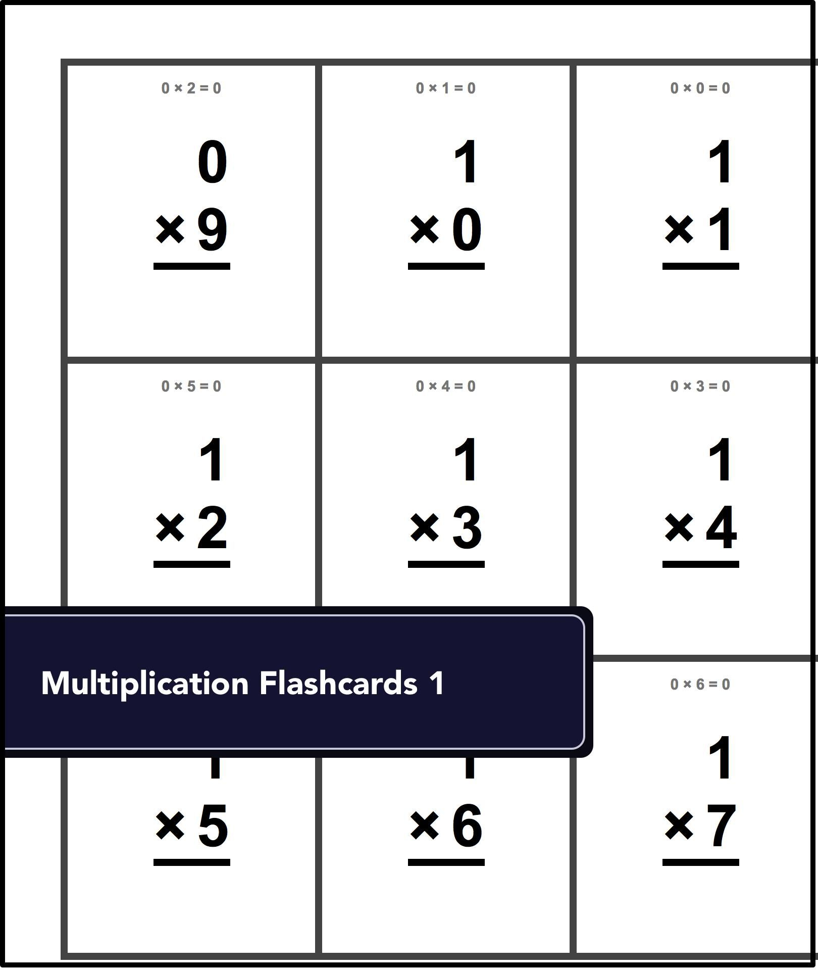 Free Printable Flash Cards #free #printable #math