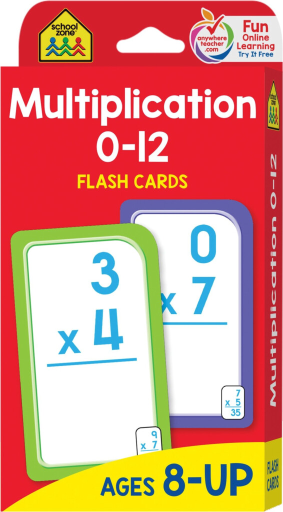 French Pdf® School Zone — Multiplication 0–12 Flash Cards