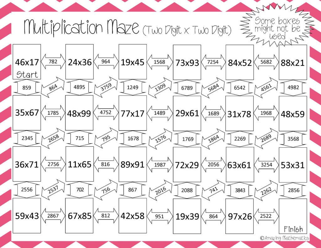 Great Way To Practice Two Digittwo Digit Multiplication