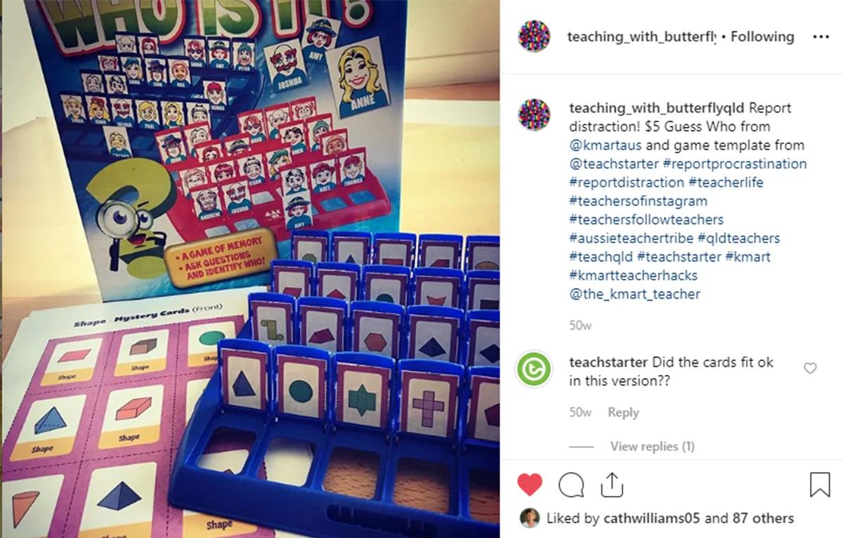 Guess Who Kmart Hack | Teacher Hacks, Rainbow Facts, Teacher