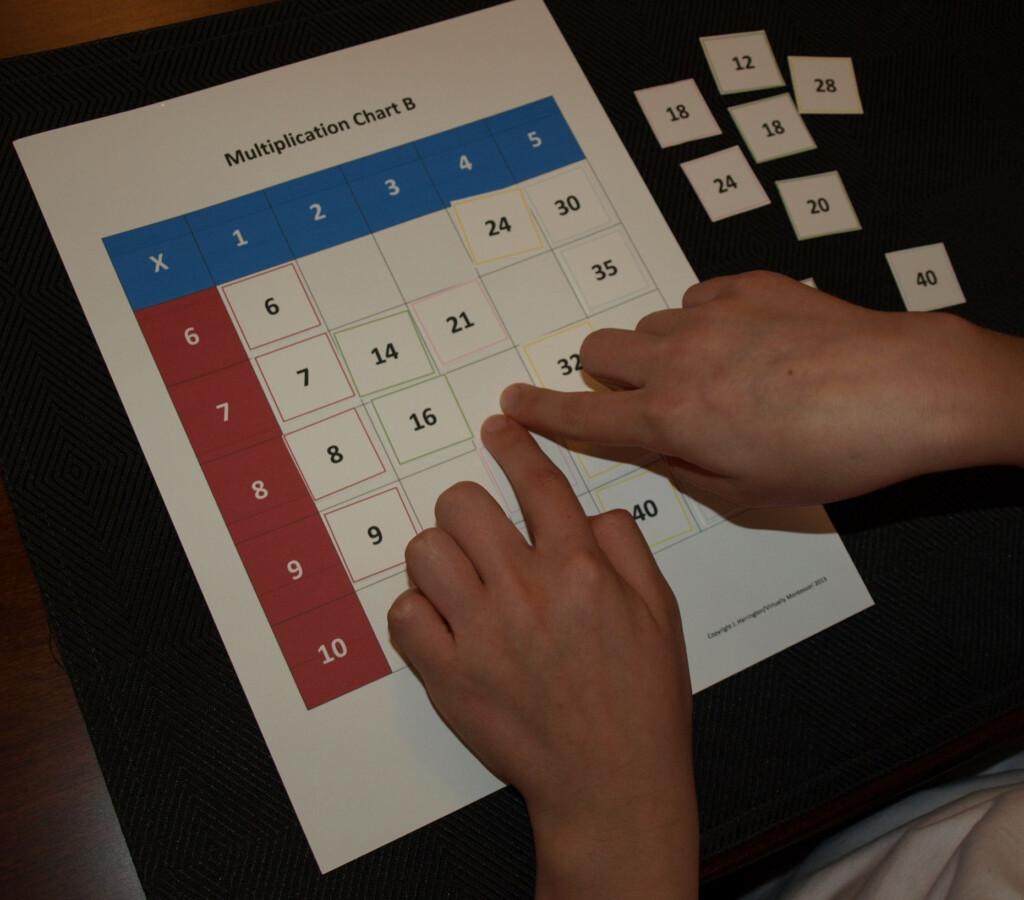 Hands On Multiplication Charts: Montessori Inspired