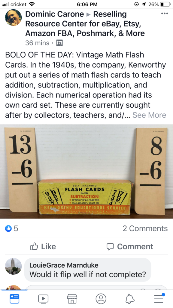 Ideawendy Pagot On Resale Life | Math Flash Cards