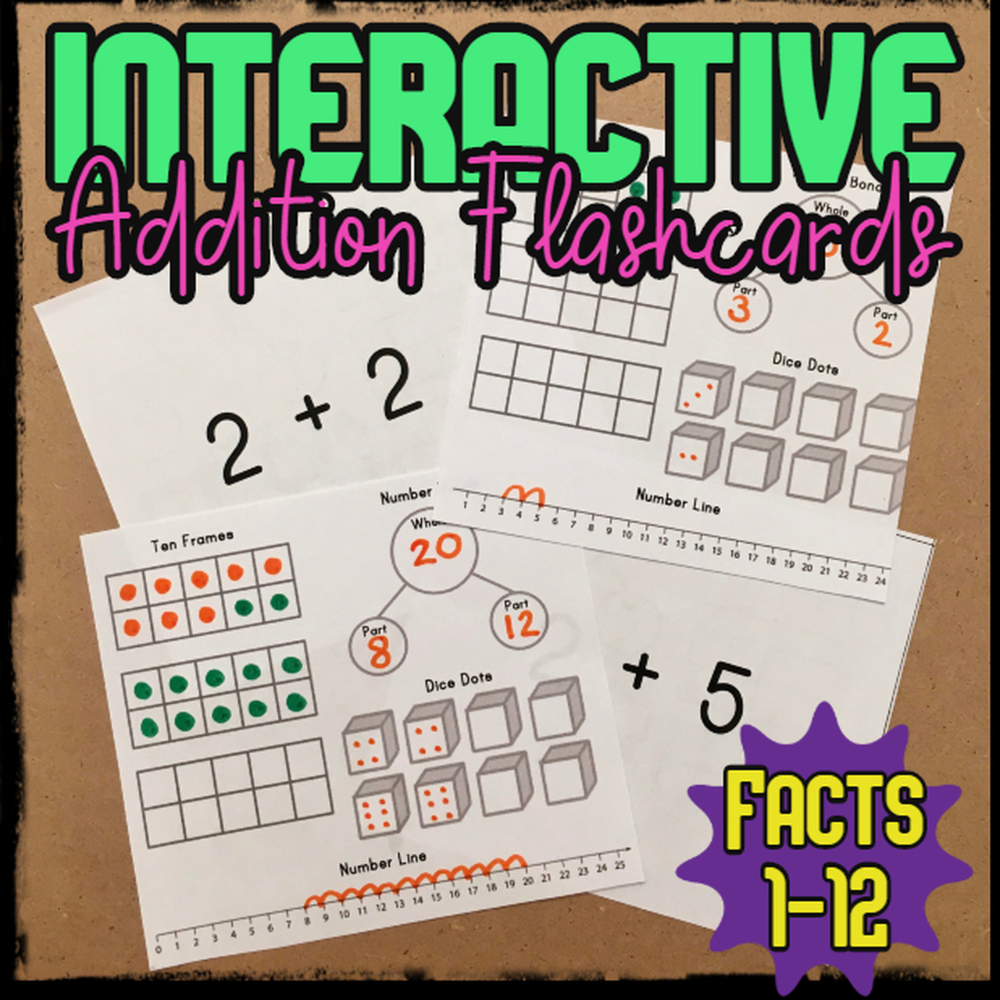 Interactive Addition Flashcards In 2020 | Addition