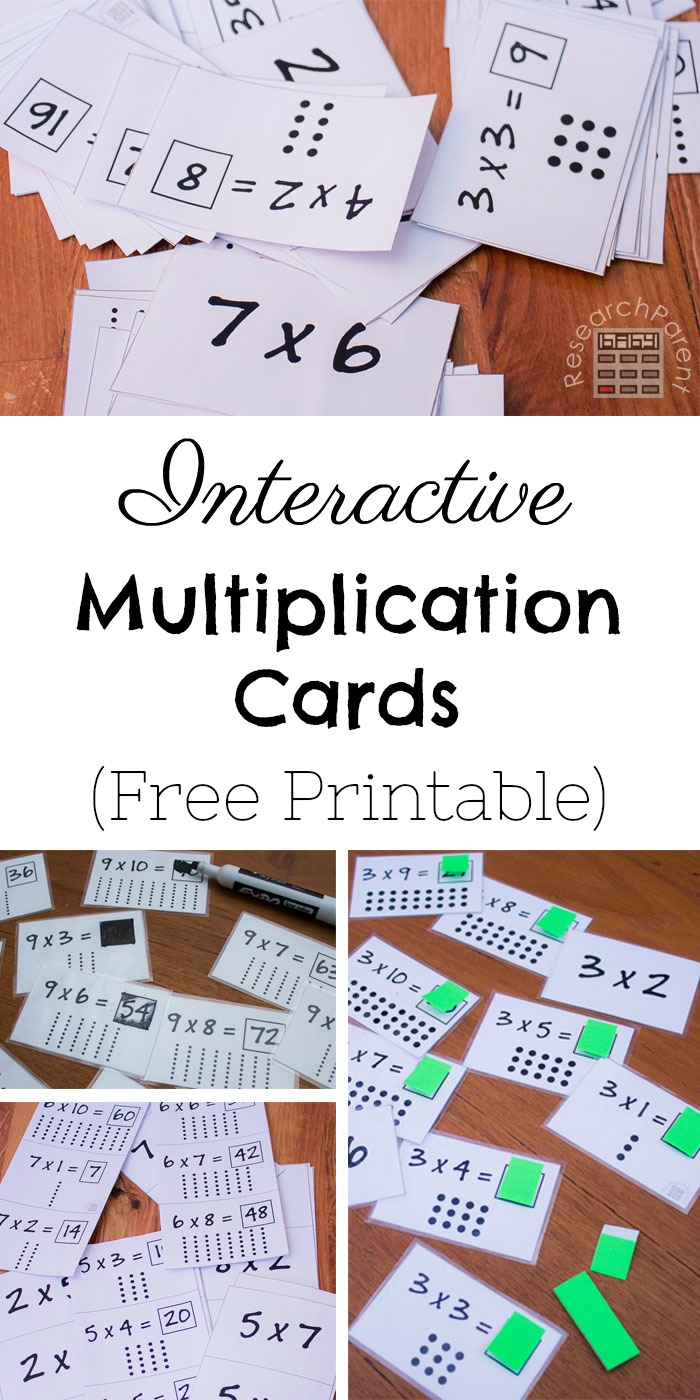 Multiplication Games Using Flash Cards