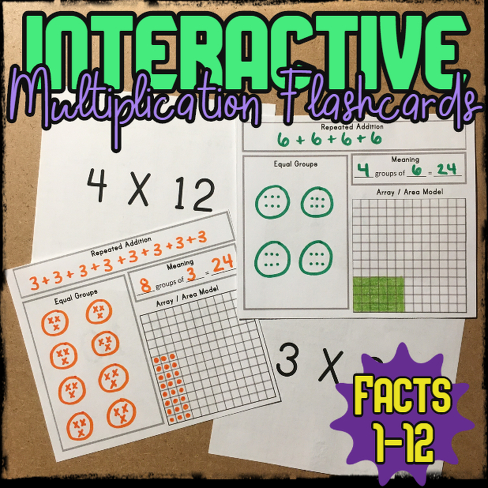 Interactive Multiplication Flashcards In 2020