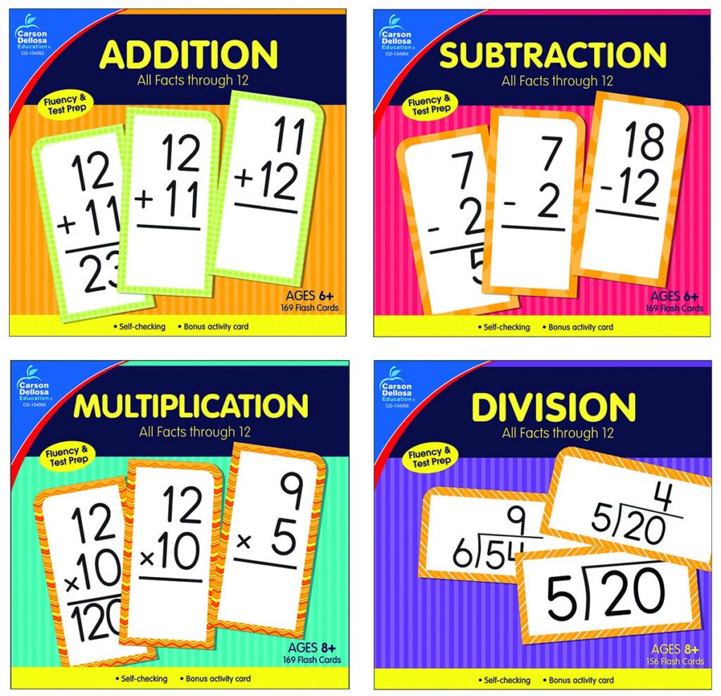 Kurtz Bros.   Carson Dellosa All Facts Through 12 Math Flash