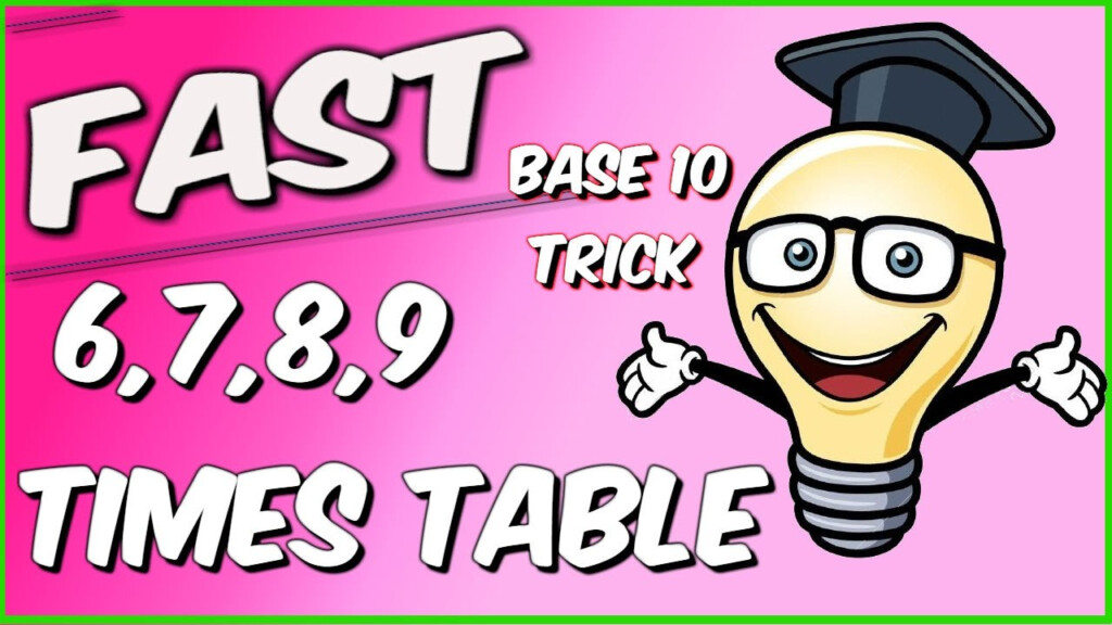 Learn The Upper 6, 7, 8, And 9 Times Tables Easily And Fast!!!!!