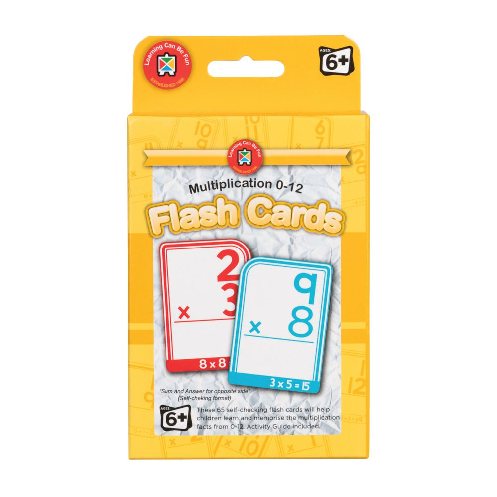 Learning Can Be Fun Flash Cards Multiplication 0-12
