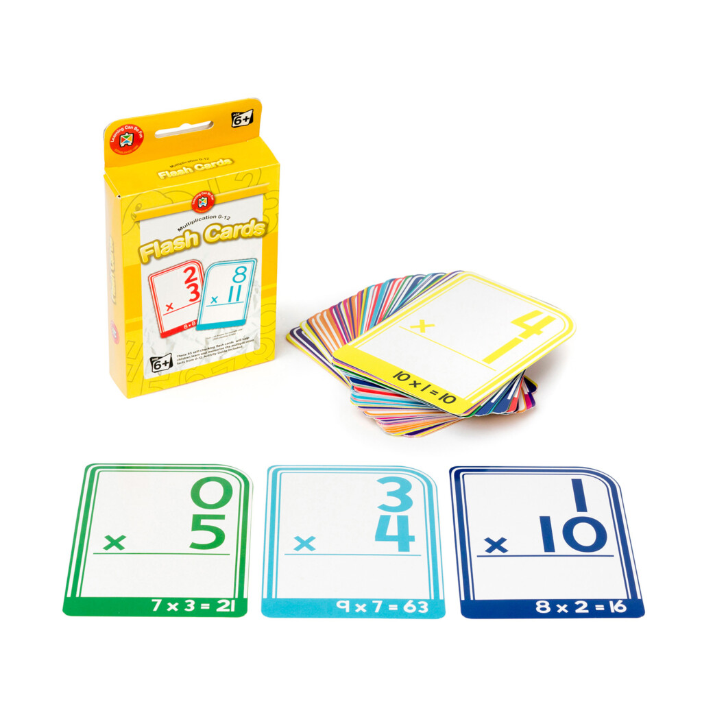 Learning Can Be Fun Multiplication 0 12 Flash Cards