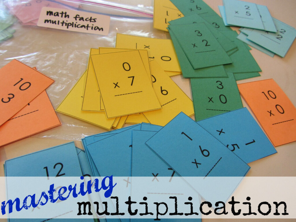 Mastering Multiplication Tables (With Mini Flash Cards
