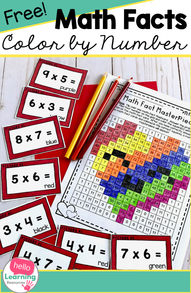 Math Facts Colornumber Multiplication Freebie | Math