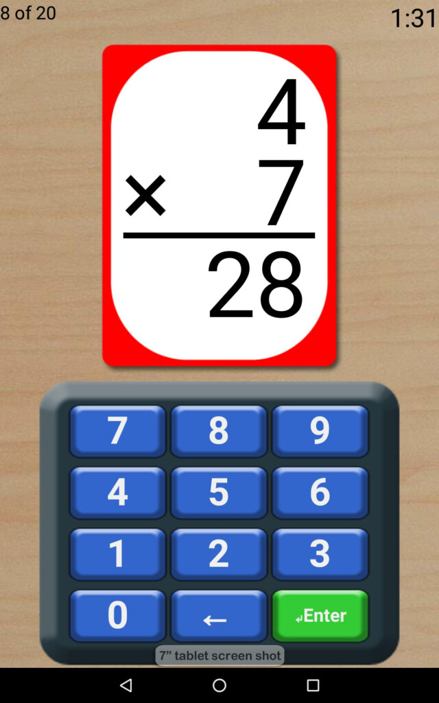 Math Flash Cards For Android   Apk Download