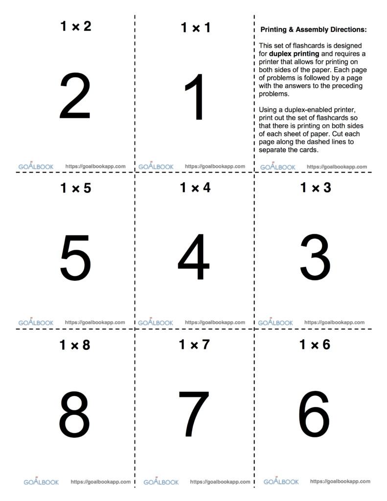 Math Flashcards | Udl Strategies   Goalbook Toolkit