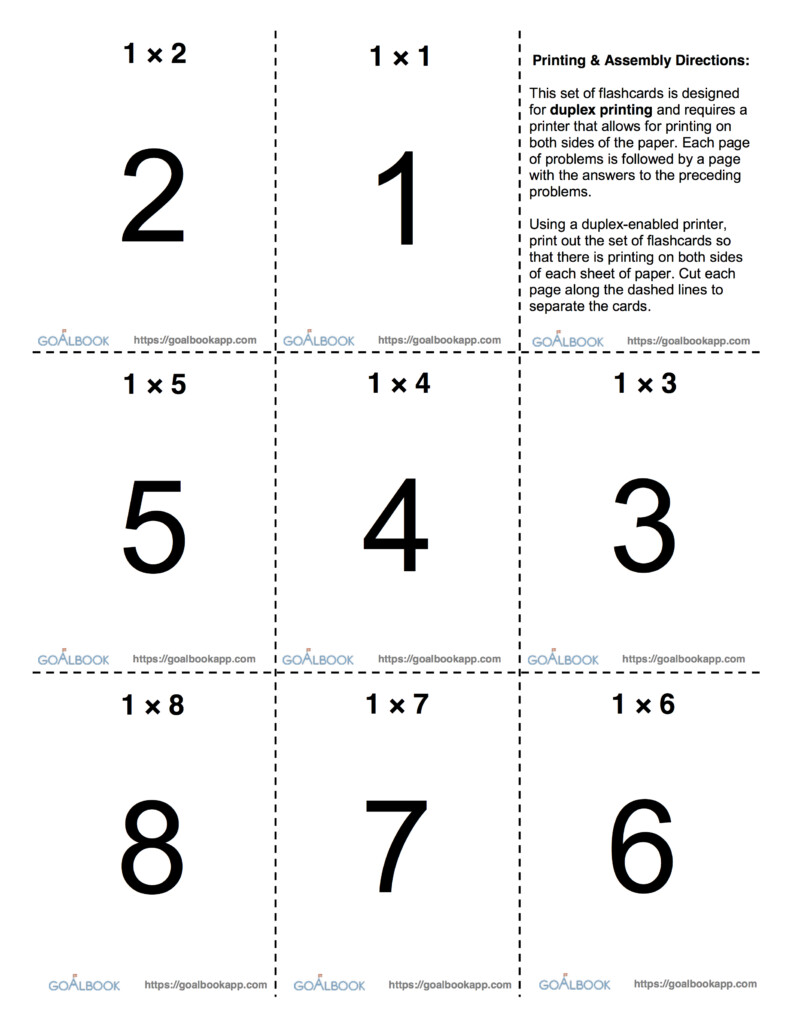 Math Flashcards | Udl Strategies   Goalbook Toolkit