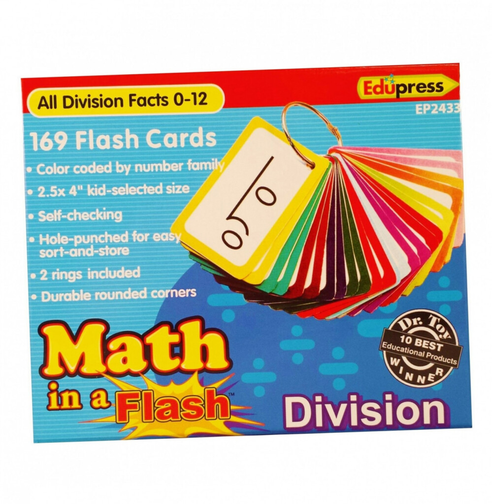 Math In A Flash™ Color Coded Flash Cards, Division