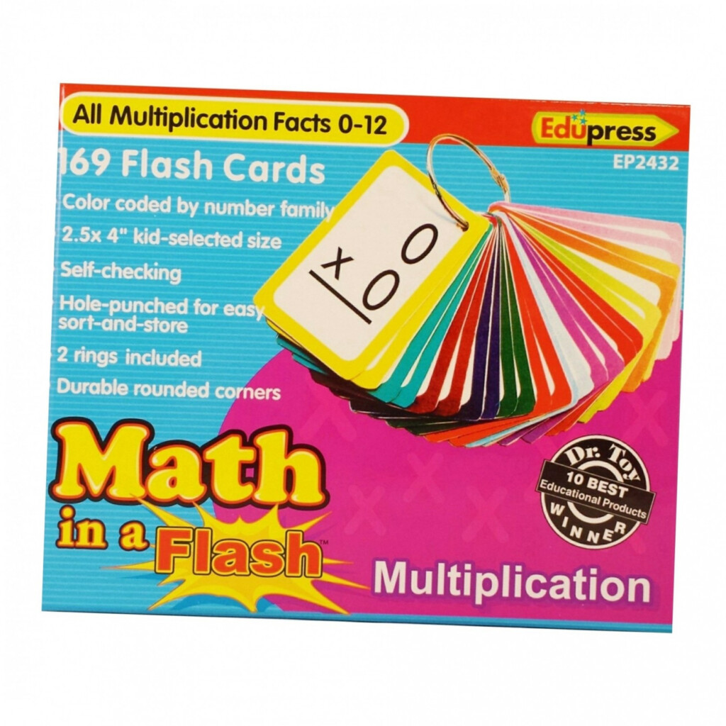 Math In A Flash™ Color Coded Flash Cards, Multiplication