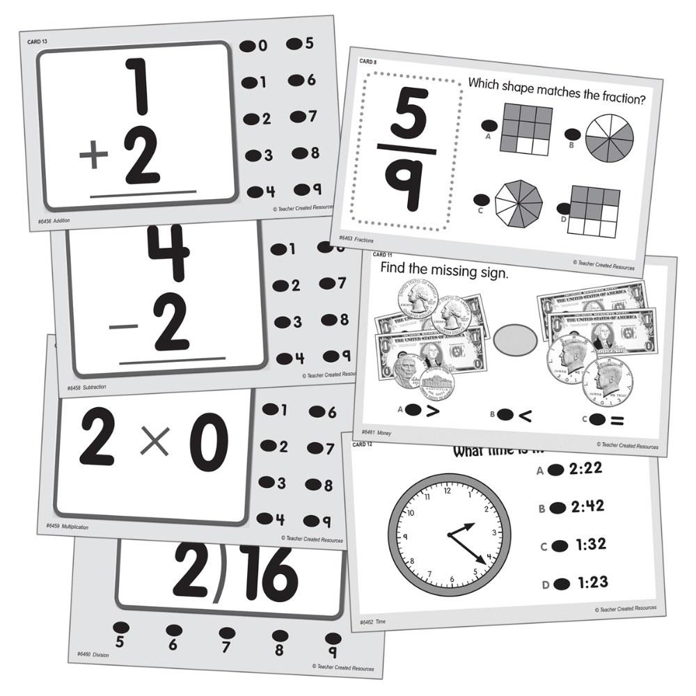 Math Quiz Card Set - Set Of 7