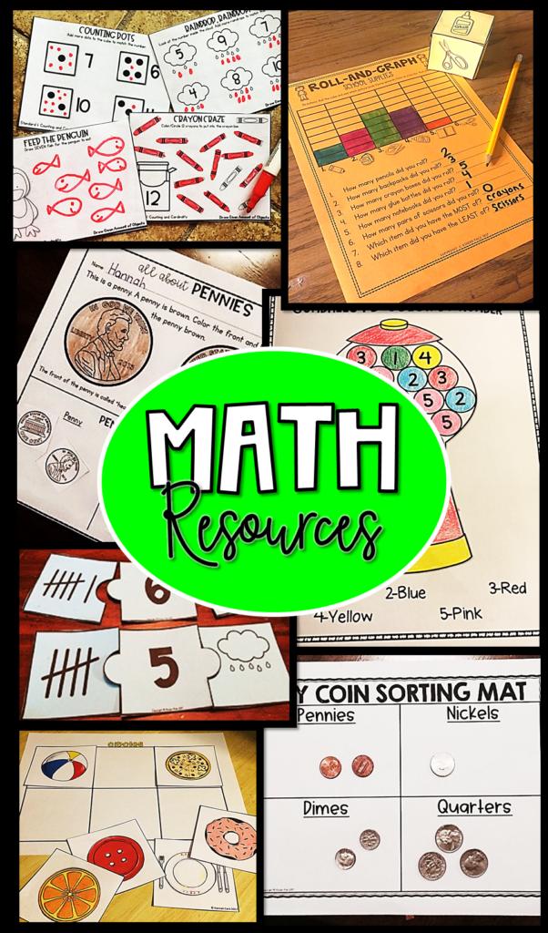 Math Resources For Preschool, Kindergarten, And First Grade