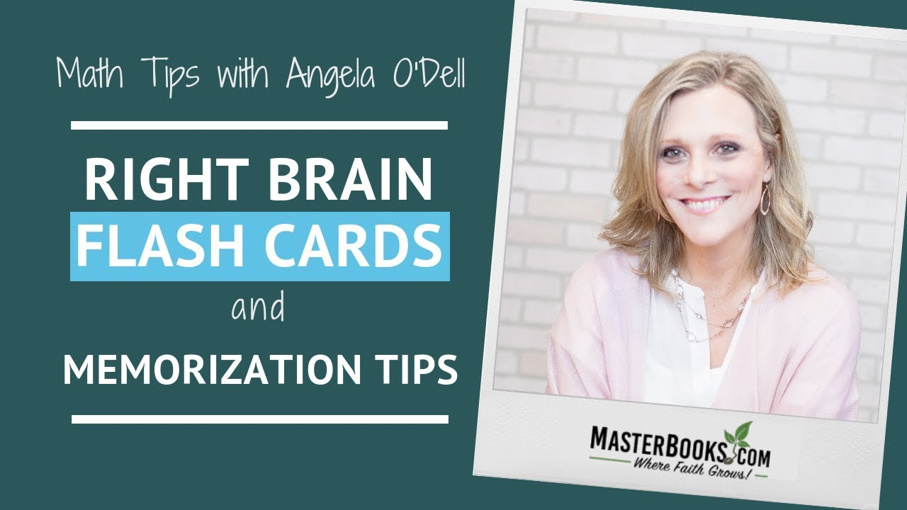 Math Tips: Right Brain Flash Cards & Memorization // Master Books Homeschool Curriculum