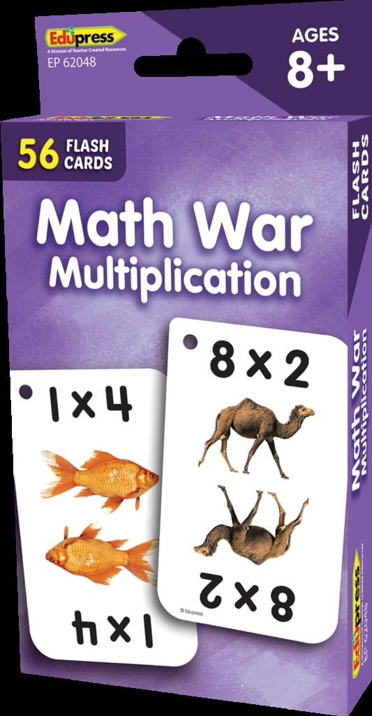 Math War Multiplication Flash Cards