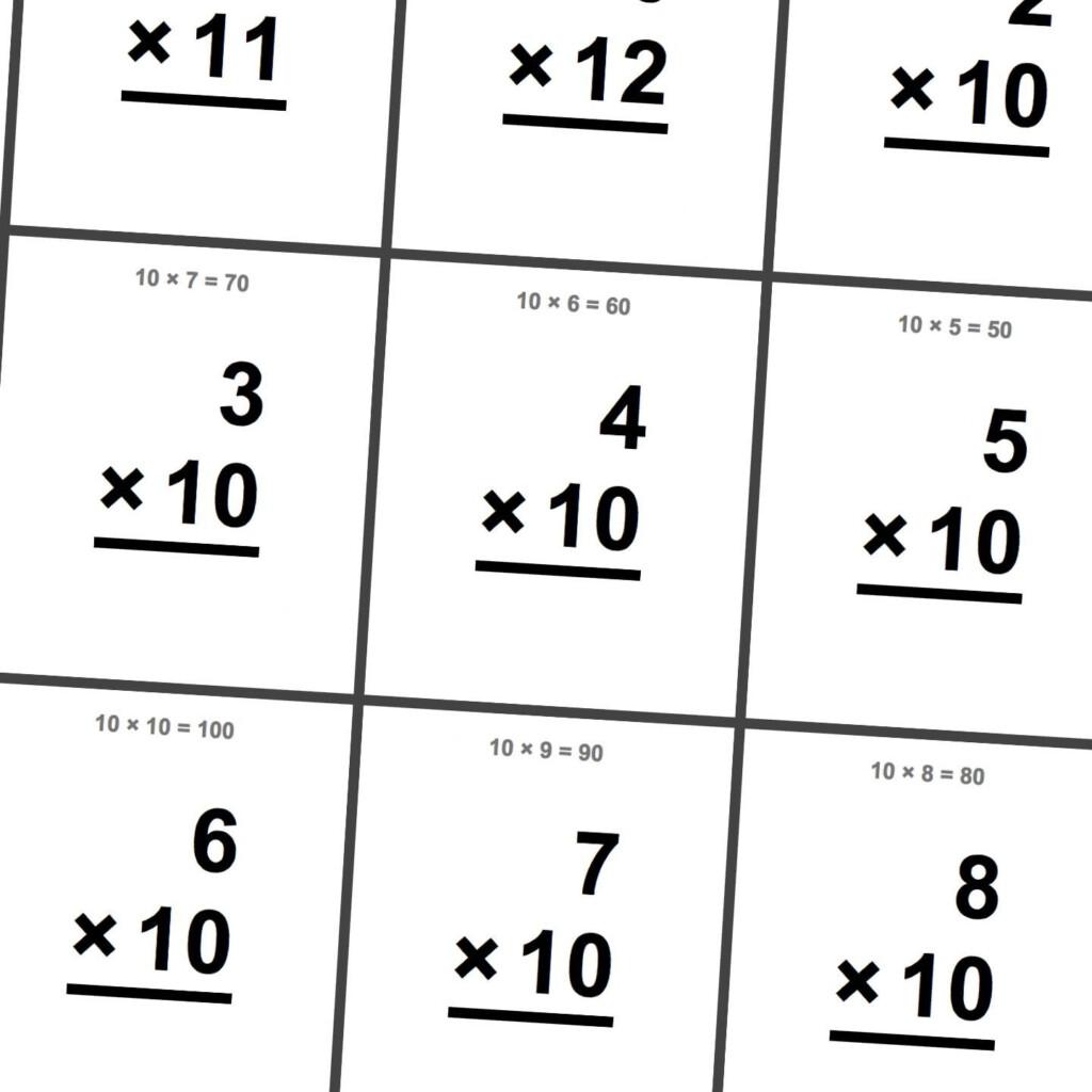 Math Worksheets: Multiplication X10, X11, X12