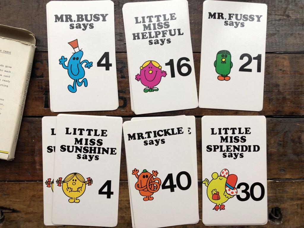 Mr. Men & Little Miss Flash Cards/multiplication Vintage