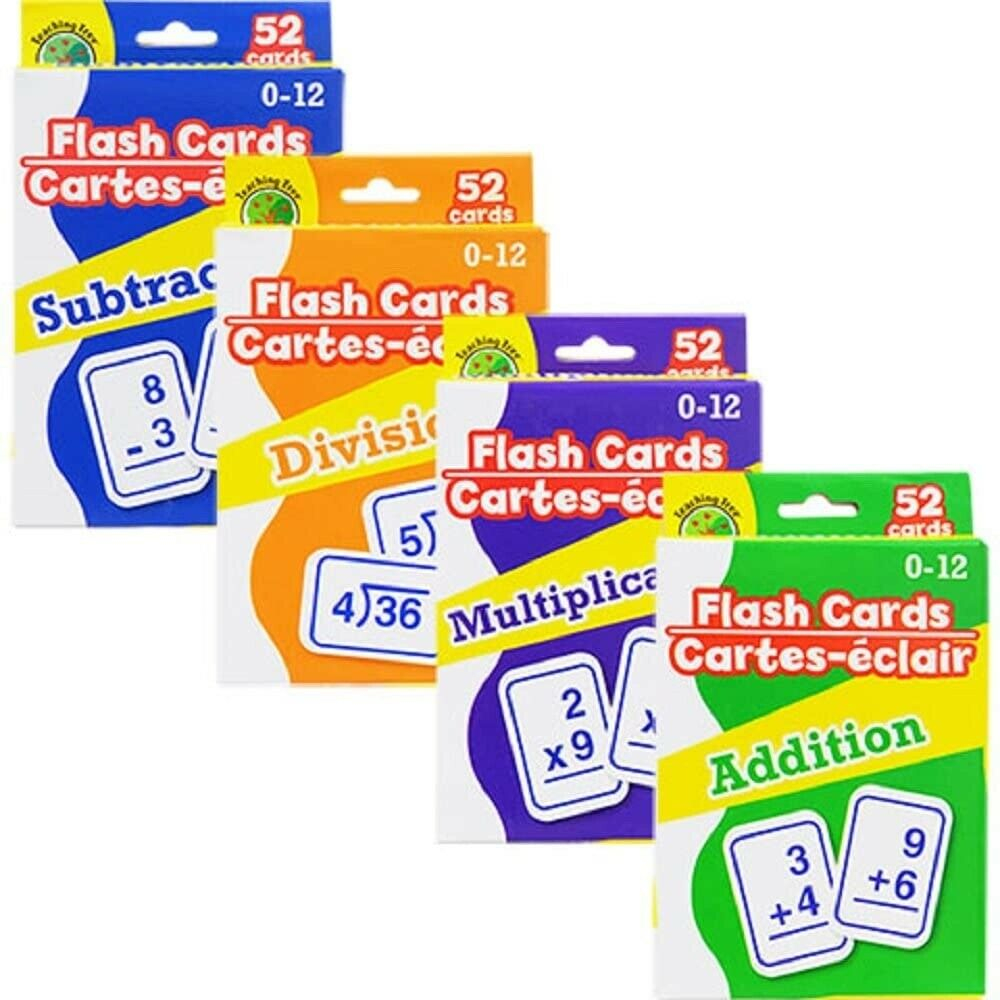 Multi-Pack Math Flashcards - Addition, Subtraction, Multiplication, Division