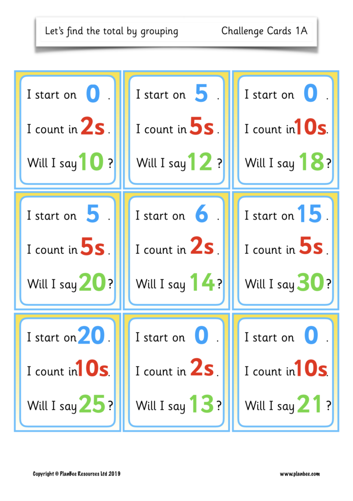Multiples Of 2, 5 And 10 Activities In 2020   Year 1 Maths