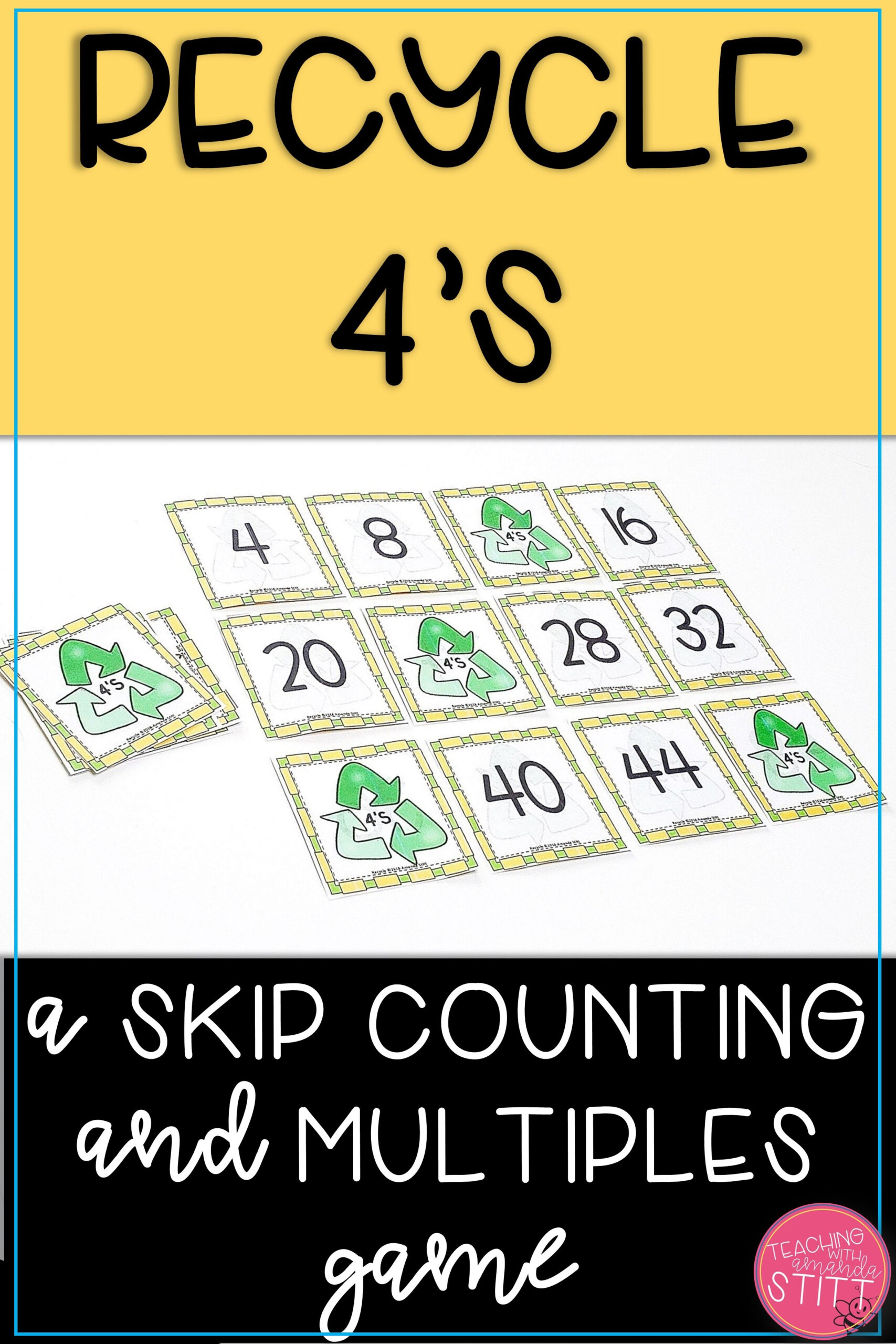 Multiples Of 4 Game   Multiplication Facts Games, Math Facts