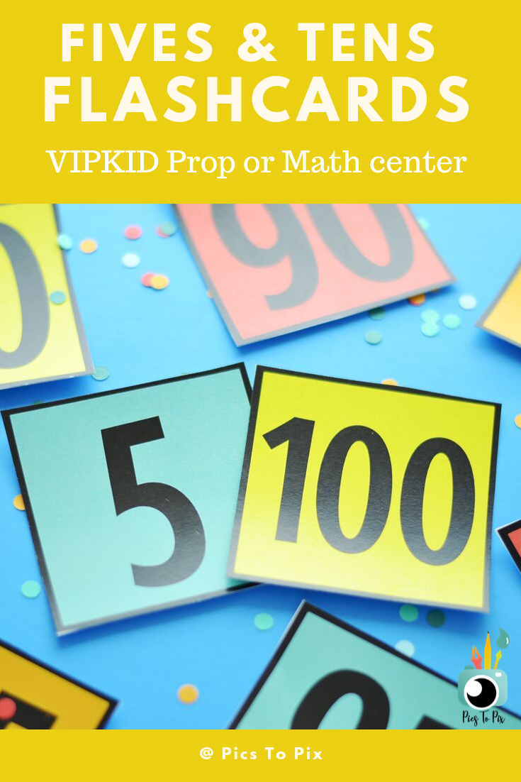 Multiples Of Fives And Tens Flashcards For Math Center Or
