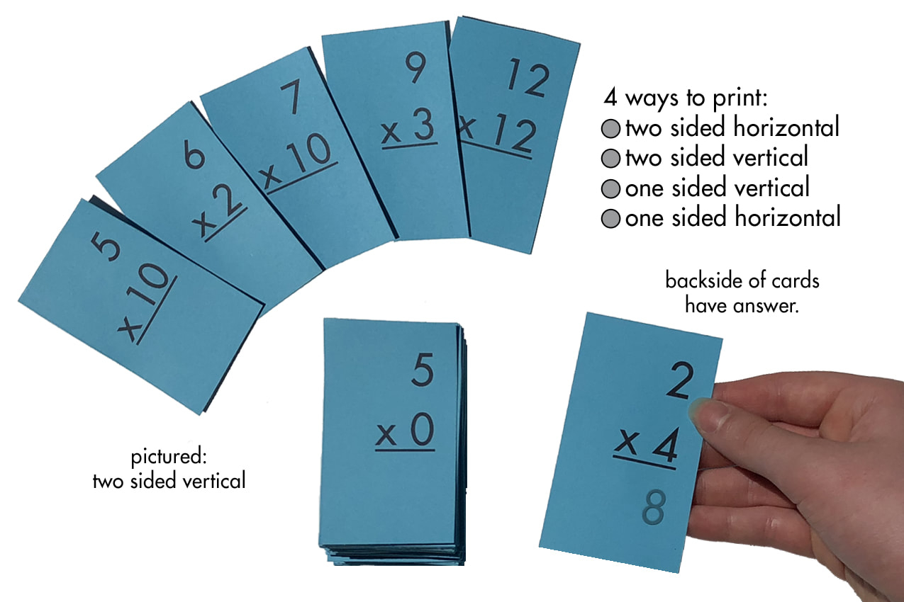 Multiplication 0-12 (All Facts) Flash Cards Plus Free Multiplication Facts  Sheet (Printables)