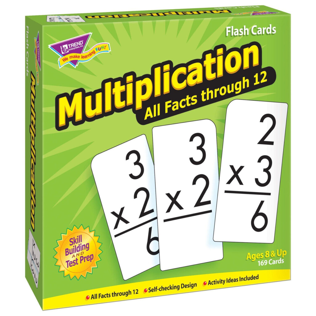 Multiplication 0 12 All Facts Skill Drill Flash Cards