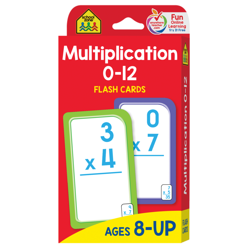 Multiplication 0 12 Flash Cards