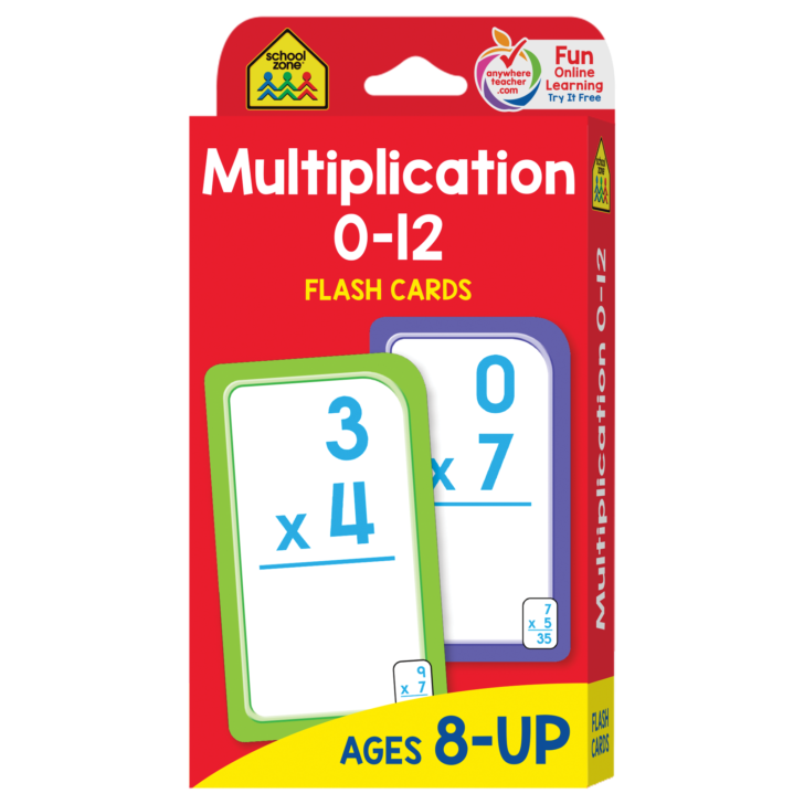 Multiplication Flash Cards 12